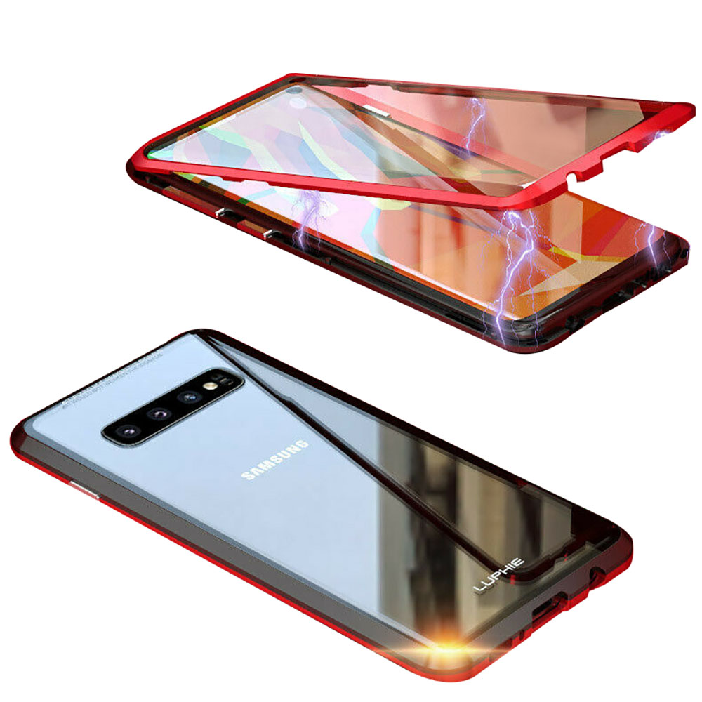 Double Sided Tempered Glass Magnetic Adsorption Case For Samsung S8 S9 S10 Plus
