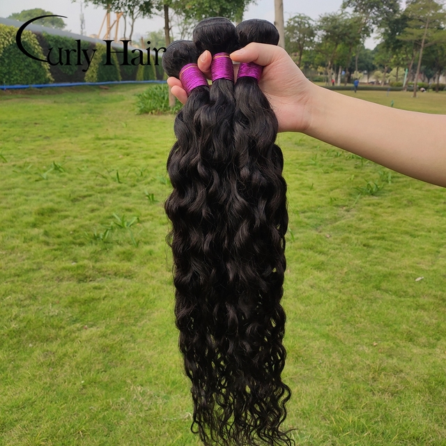 Curly Hair Peruvian Virgins Hair Natural Wave 100% Human Hair Weaving Black Women Natural Hair Extensions Wholesale Hair Bundles|Hair Weaves|   -