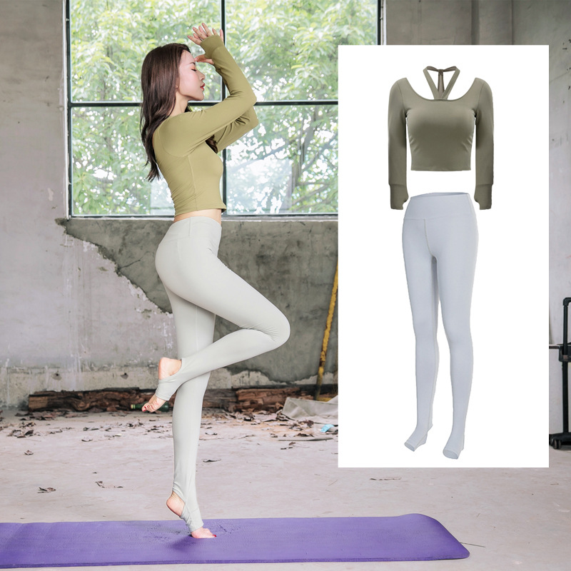 2019 Women's Sportswear Quick-drying Breathable Sweat-absorbent Long Sleeve Pants Suit Sports Dance Fitness Suit