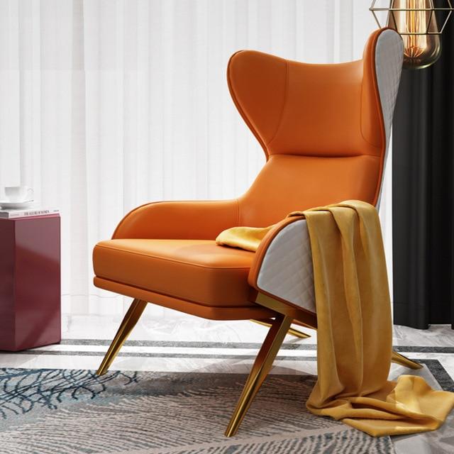 Leather Art Designer High Back Lounge Chair 1