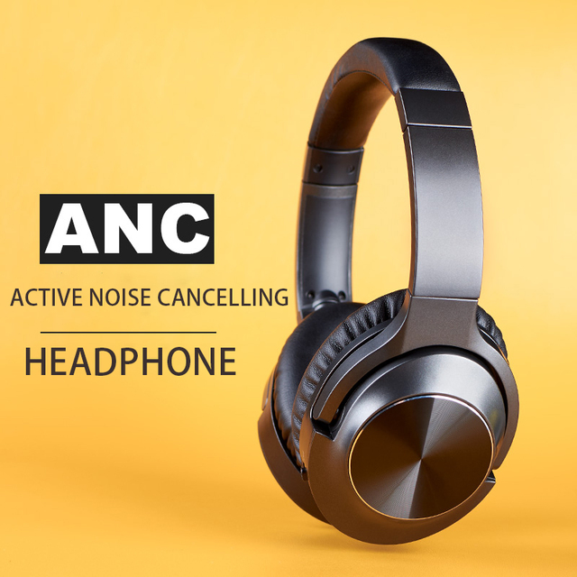 ANC Noise Cancelling Headphones Bluetooth Wireless Gamming Headset Gamer PC 3.5mm Wired PS4 Earphone Deep Bass for Laptop Tablet 2
