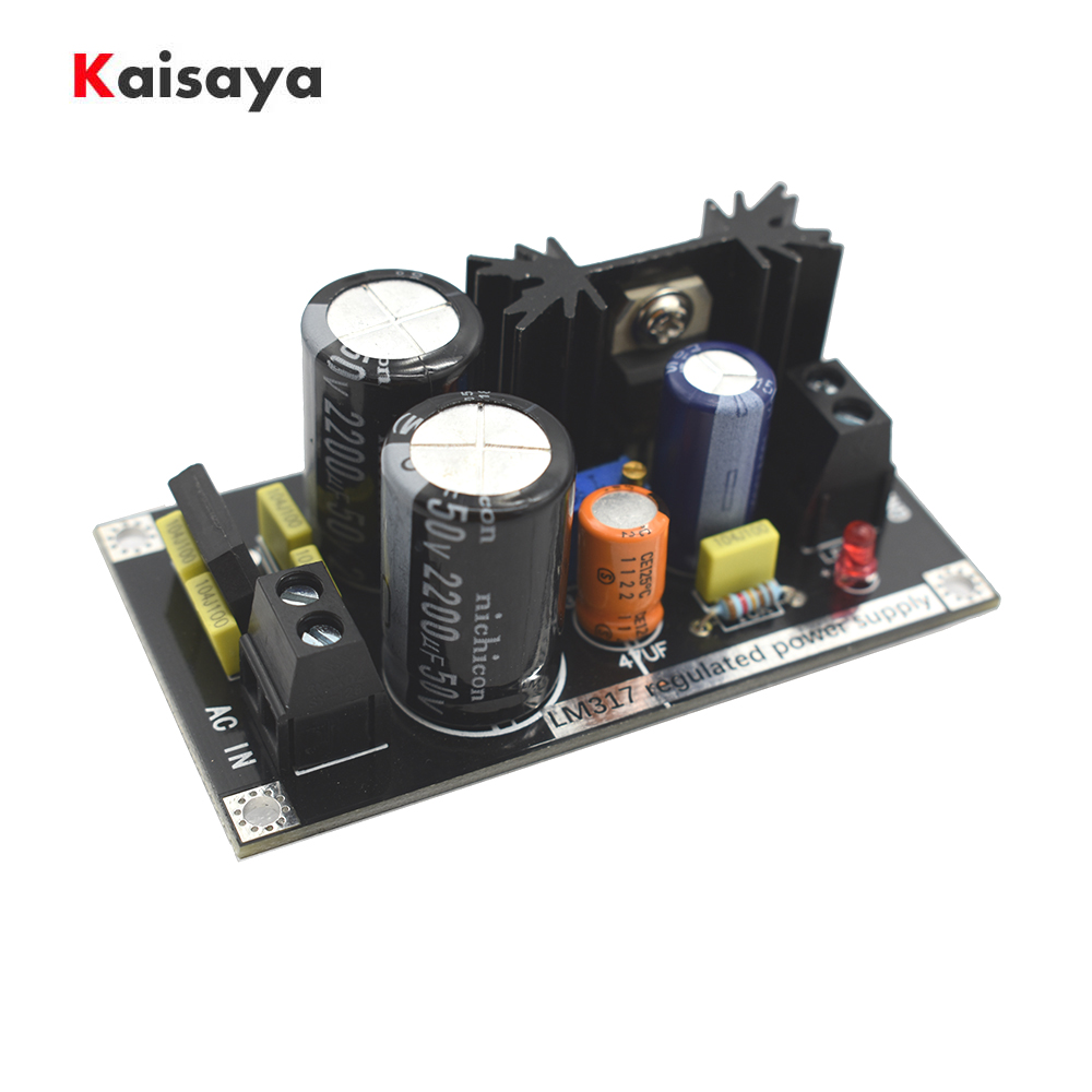 LM317 Adjustable Power Supply Board AC To DC Adjustable Linear Regulator With Rectifier Filter Board A7-006