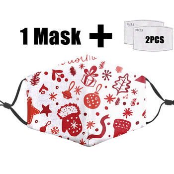 Christmas Night Mask Reusable Protective Pm2.5 Filter Mouth Masks Bacteria Proof Flu Mask Washable Anti Dust Unisex Face Mask