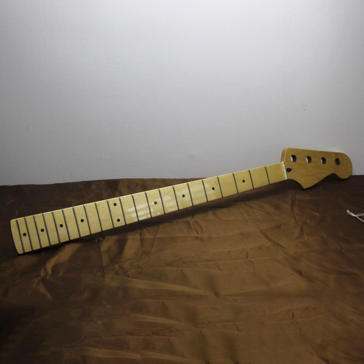 FLEOR 1 шт. 21 лада Бас шеи клен гриф блеск сатин для PB JB бас гитары шеи части замены - 6