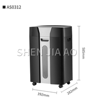 1*2mm Paper shredders Office high power large shredders 7 levels of confidentiality 3 sheets 20 minutes 25.6L mute AS0312