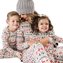 Рождественская одежда hh Семейный комплект пижамы семейный Рождественский