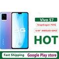 Новый Vivo S7 5G сотовый телефон Экран отпечатков пальцев 6,44