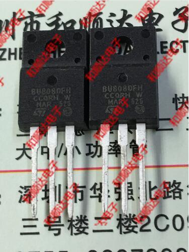 Бесплатная доставка 50 шт. BU808DFH TO-220F 1400V 8A