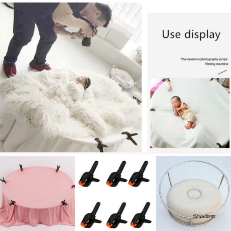 Newborn Photography Props Baby Photo Shoot Frame Infant Posing Props Portable Posing Filming Machine Full-moon Photo Accessories