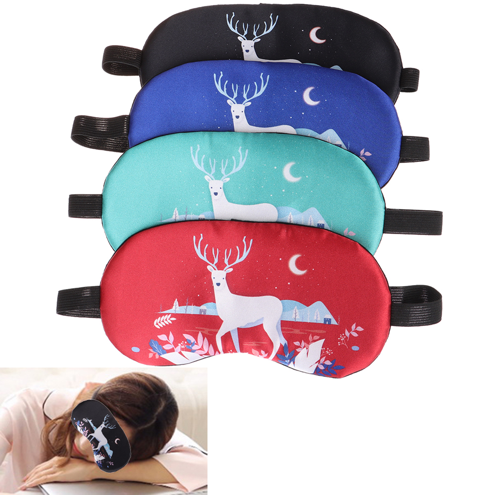 1PCS Cartoon Sleep Rest Eye Mask Padded Shade Cover For Eye Travel Relax Sleeping Aid Eye Patch Shading Eye Mask