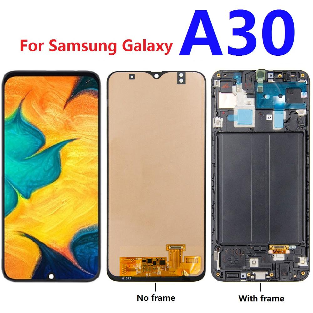 For <font><b>Samsung</b></font> Galaxy <font><b>A30</b></font> A305F A305F/DS A305A A305FD <font><b>LCD</b></font> Display Touch Screen Digitizer Assembly frame replacement parts image