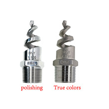 Spiral-Nozzle Stainless-Steel Water-Pipe-Fittings BSPT Male 1/2-3/4-Garden Full-Cone