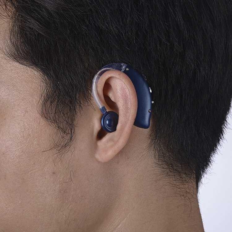 2020 Isi Ulang Bluetooth USB Mini Digital BTE Hearing Aid Suara Amplifier untuk Orang Tua Gangguan Pendengaran Berat Drop Pengiriman