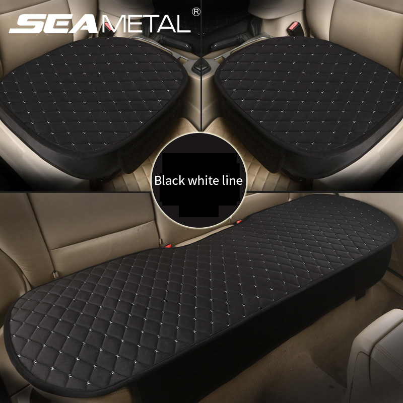 Cushion-Protector Car-Seat-Cover Plush-Interior Front New Anti-Slip 1 Embroidery Rhombic