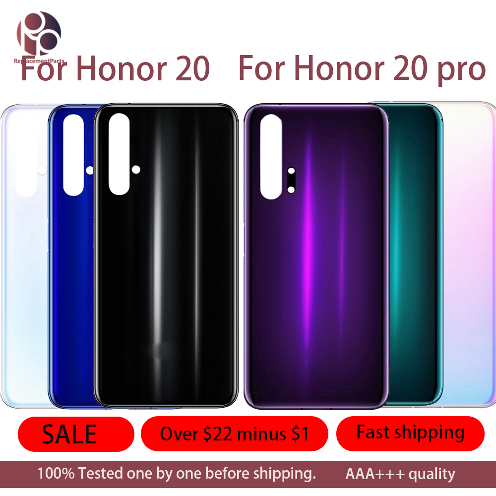 5Pcs Battery Back Glass Cover For Huawei Honor 20 / 20 Pro Rear Door Housing Case Replacement Repair Parts