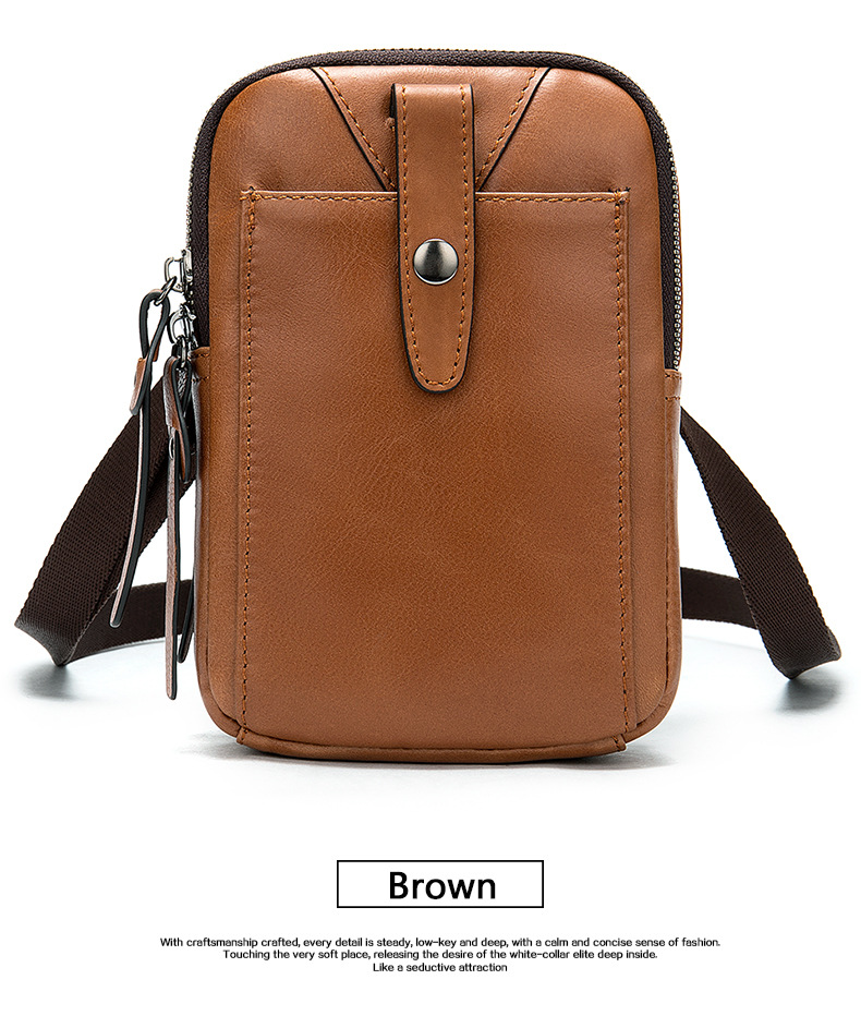 Male Tote Brown Crossbody Bags Fashion Man Vintage Leather Messenger Bag Male Cross Body Shoulder Business Brown Bags For Male