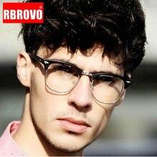 RBROVO ronda De 2021 Retro gafas De montura para hombres gafas De protección contra luz azul De los hombres/mujeres Simless Monturas De gafas Lentes Mujer