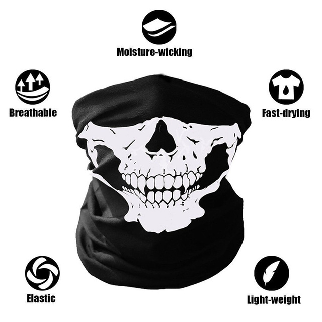Black Skeleton Ghost Skull Face Mask Mouth Mask Biker Balaclava Costume Anti Dust Windproof Flu Mouth-muffle Bacteria 5