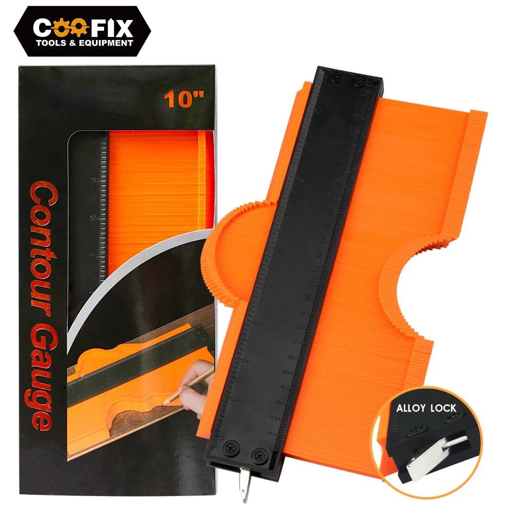 COOFIX Lock plus large Contour jauge profil outil alliage bord façonnage bois mesure règle stratifié carreaux Meethulp jauge