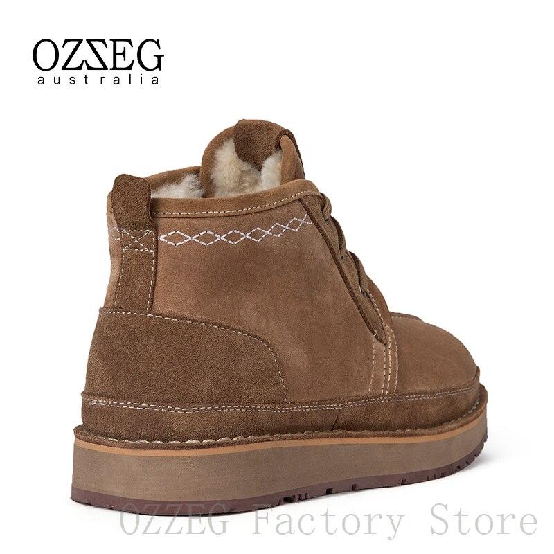 Женские и мужские ботинки из коровьей замши; сезон осень зима; повседневная мужская обувь на шнуровке; армейские ботильоны; Zapatos De Hombre - 3
