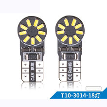 10PCs T10 Led Canbus 18 Smd 3014 No OBC Error 194 168 W5W 18smd LED Interior Instrument Light Bulb Lamp White 6000k