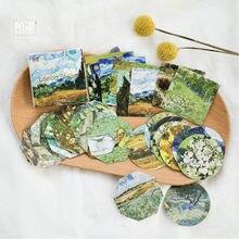 45 листов/коробка декоративная бумажная наклейка «Ван Гог»