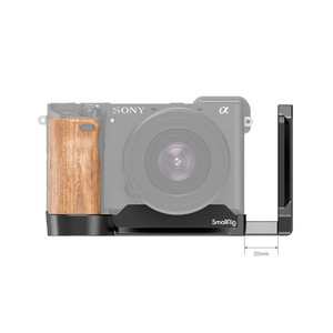 Image 2 - SmallRig L Bracket Plate With Wooden Handle for Sony A6400/A6300/A6100 Arca Swiss Standard L Plate Mounting Plate   2331
