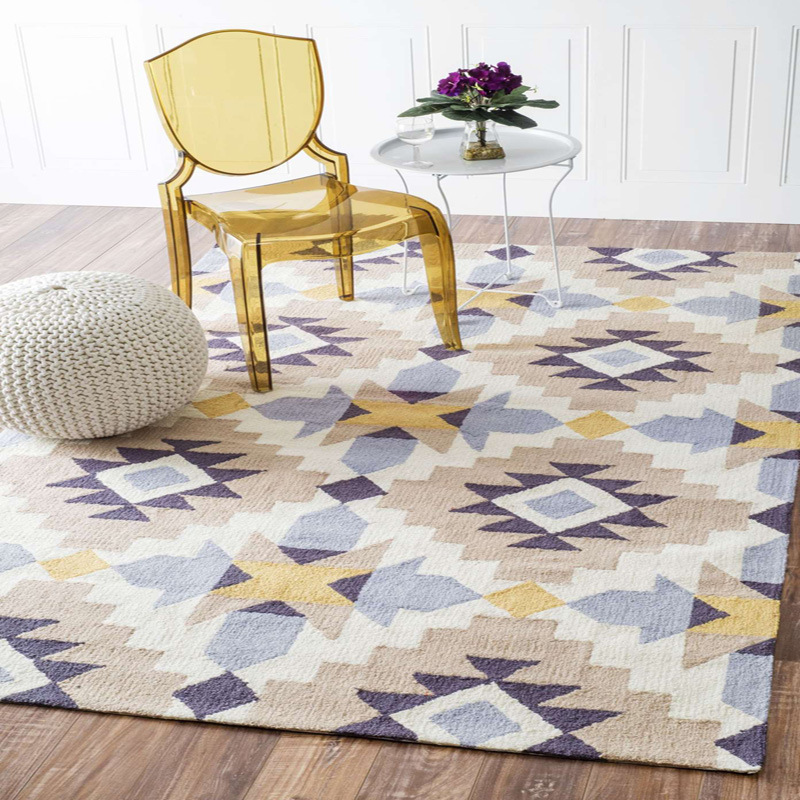 Nordic Acrylic Thicker Carpets For Living Room Modern Geometric Bedroom Area Rug Fashion Home Decoration Handmade Customize