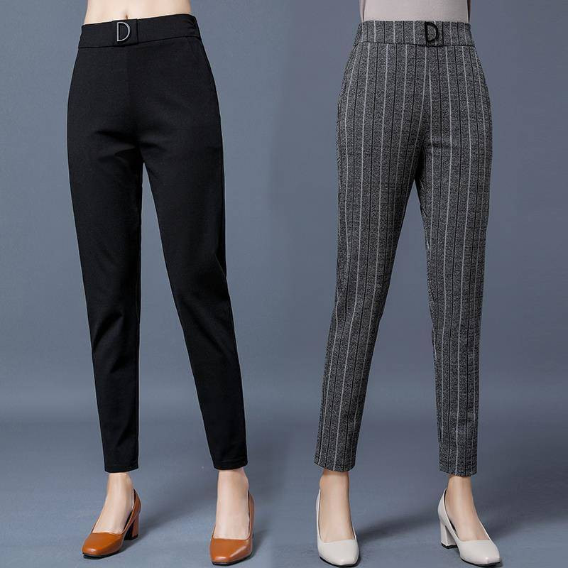 2020 Spring Summer Pants Women Plus Size Business Formal Trousers Slim Female Work Wear Office Lady Career High Waist Pants