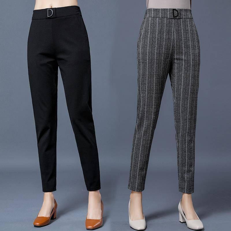 2020 Spring Summer Pants Women Plus Size Business Formal Trousers Slim Female Work Wear Office Lady Career High Waist Pants