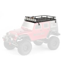 Hot! Metal Roof Rack Luggage Carrier with 6 LED Lights Bar for RC 1/10 4WD Car RC Crawler Truck D90 Axial Jeep SCX10 90046 Parts injora roof rack luggage carrier controllable light bar for 1 10 rc crawler rc4wd d90 land rover axial scx10 jeep scx10 ii 90046