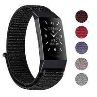 Correa de nailon para Fitbit Charge 3 y 4, pulsera deportiva suave y transpirable de repuesto, accesorios para Fitbit