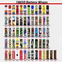 600pcs 18650 battery wrap battery sticker protective skin vape accessories