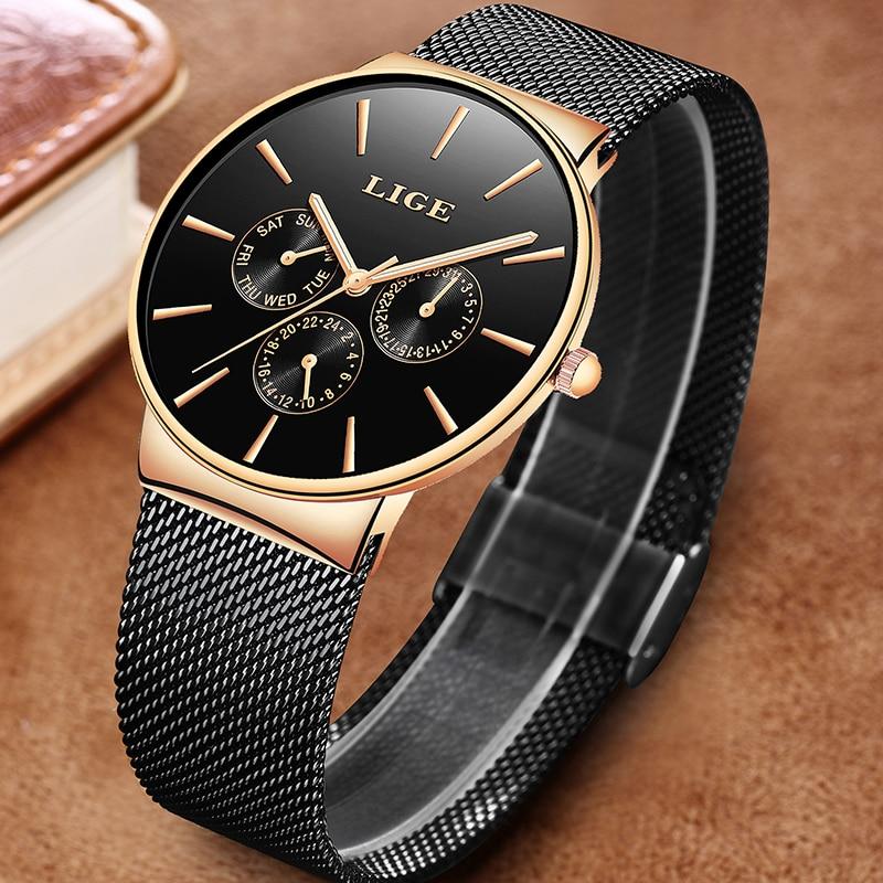 Ultimate SaleLIGE Watches Clock Quartz Feminino Stainless-Steel Top-Brand Casual Women Ladies Luxury