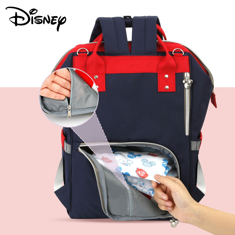 Disney USB Diaper Bag Baby Backpack Mummy Diaper Bag Backpack Fashion Mummy Maternity Nappy Bag Large Capacity Baby Stroller Bag