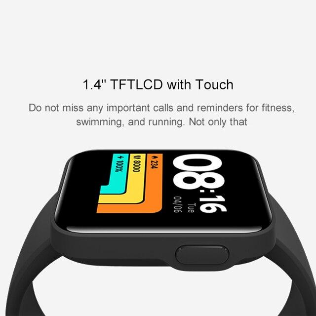 "Xiaomi Mi Watch Lite GPS Bluetooth 5.1 Smart Watch Fitness Heart Rate Monitor 1.4"" TFTLCD Screen 5 ATM Waterproof mi band 3"