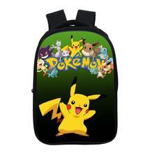 Pokemon Eevee Backpack School Bags Boys Girls Greninja Toddler Pikachu Book Bag Kids Kindergarten Mochilas