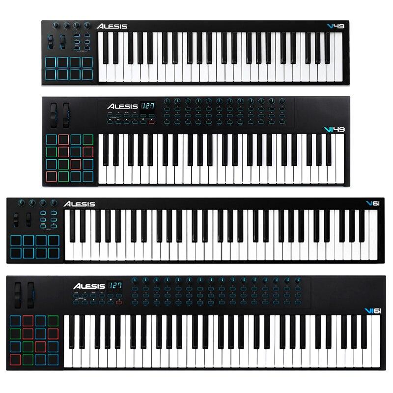 With Backlight Mat Arranger Alesis V49 Vi25 V61 Vi61 Key Midi Keyboard Controller