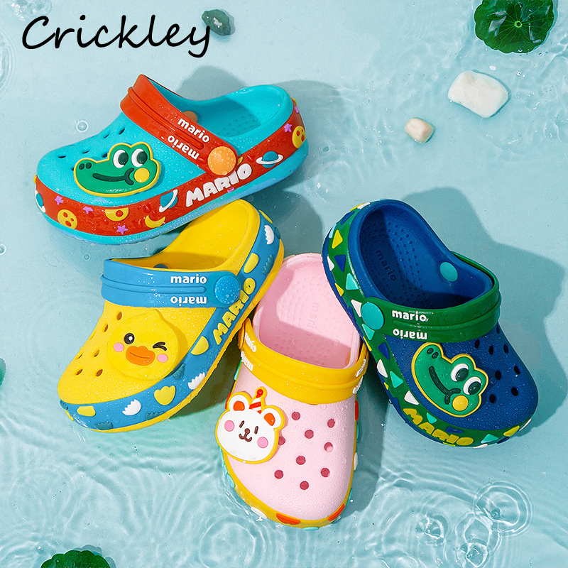 High Quality Children Croc Shoes Summer Cartoon Beach Swimming Shoes For Boys Girls Soft Non Slip Indoor Toddler Kids Slippers