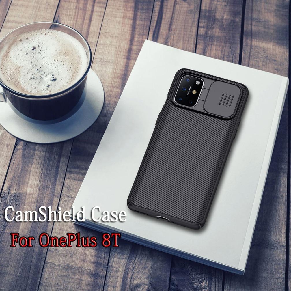 Для OnePlus 8T чехол NILLKIN CamShield чехол-бампер скользящая тонкая задняя крышка Защита камеры Жесткий Чехол для One Plus 8T 5G