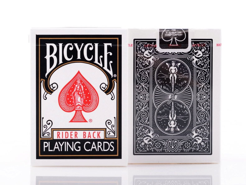Bicycle Classic Black Deck Rider Back Playing Cards Standard Index Poker Magic Card Games Magic Tricks Props For Magician