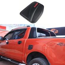 Zewnętrzna pokrywa zbiornika paliwa matowy czarny plastik ABS pokrowiec na forda Ranger T6 T7 T8 2012 2019 4X4 akcesoria samochodowe