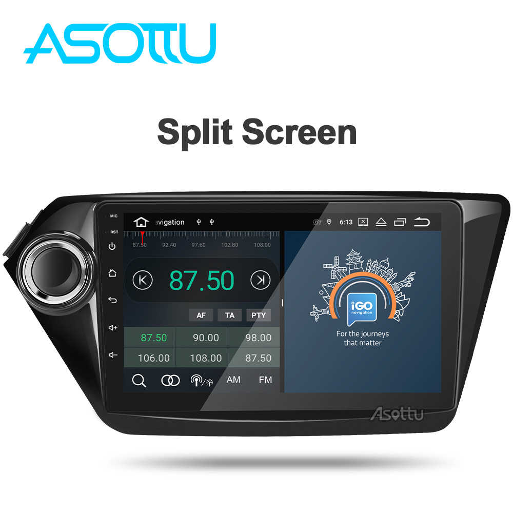 Asottu KI601 android 9,0 PX6 navegación gps con dvd para coche para Kia RIO 3 4 k2 2010, 2011, 2012, 2013, 2014, 2015 radio Estéreo dvd gps