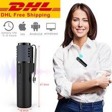 Smartmic inalámbrico Bluetooth grabación micrófono de solapa para cámara DSLR teléfono micrófono de solapa de wondershare Youtube grabación Micrófono estéreo
