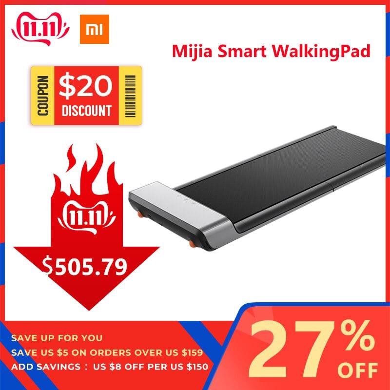 Original xiaomi mijia inteligente walkingpad dobrável antiderrapante controle de velocidade automática display led fitness perda de peso esteira