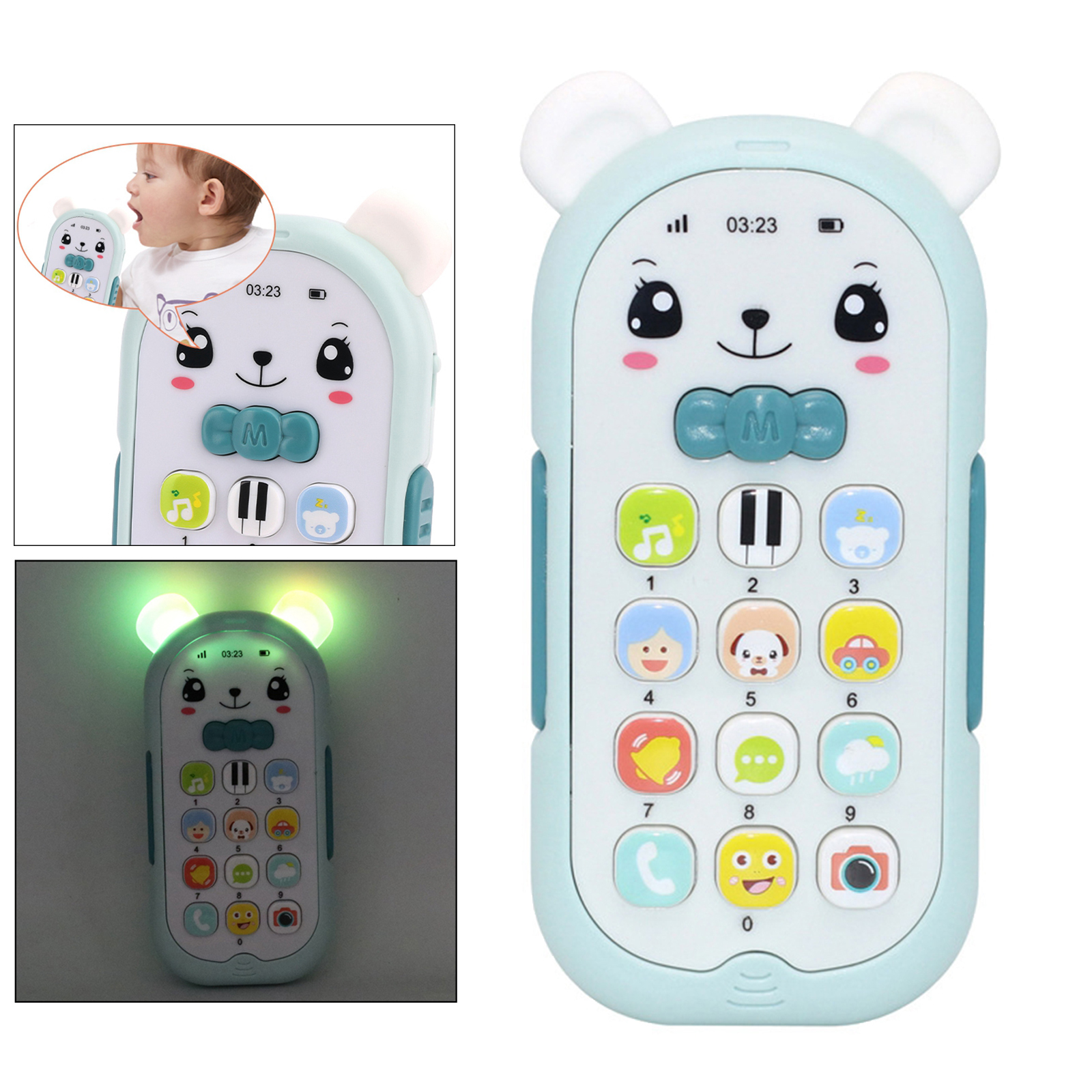 Baby Phone Toy Mobile Telephone Early Educational Learning Machine Kids Gifts Telephone Music Sound Machine Electronic Baby Toy