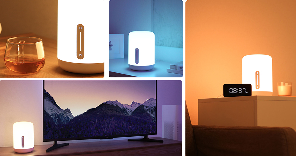 New Version Xiaomi Mijia Bedside Lamp 2 Smart Light voice control touch switch smart APP color adjustment For Apple Homekit Siri (3)
