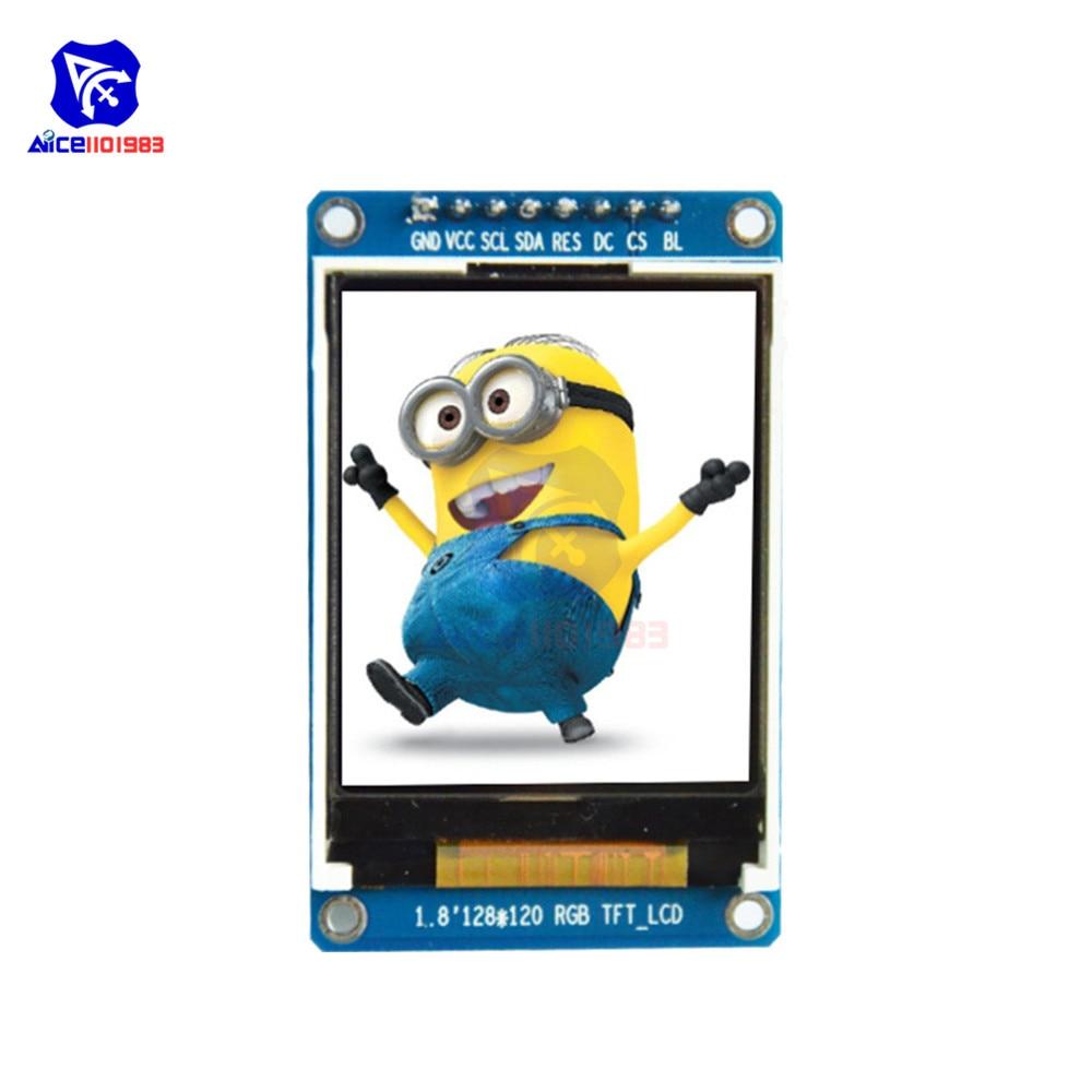 0.96 cal 1.14 cal 1.3 cal 1.44 cal 1.5 cal 1.8 cal IPS ekran TFT LCD moduł wyświetlacza ST7735 SPI IIC dla Arduino 51 STM32