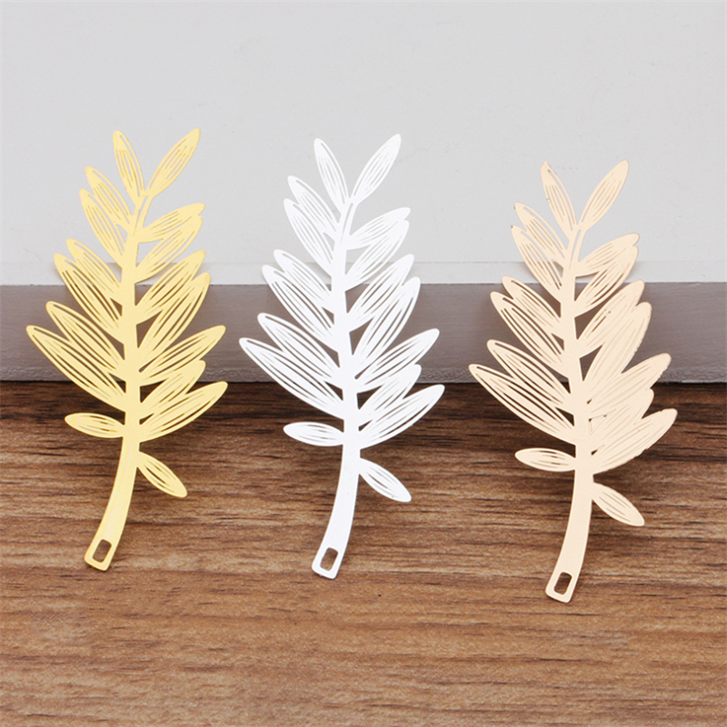 Gold Tree Leaves Charms Pendants Findings for Jewelry DIY making 20pcs//Lot