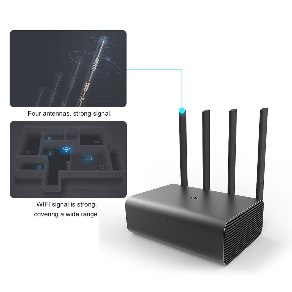 Original Xiaomi Mi WiFi Wireless Router Pro Repeater Dual ROM 256 Flash With 4 Antennas Signal Booster Stable & Reliable